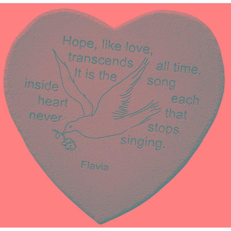 Hope, Like Love, Transcends Heart Shaped Stone