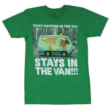 Scooby Doo Mens T-Shirt -  What Happens in the Van Stays Mystery Machine - Scooby Doo Mystery Van For Sale