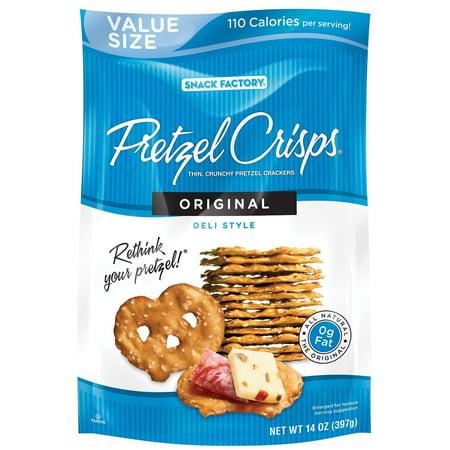 Halloween Snacks Using Pretzels ((2 Pack) Snack Factory Pretzel Crisps, Original, 14)