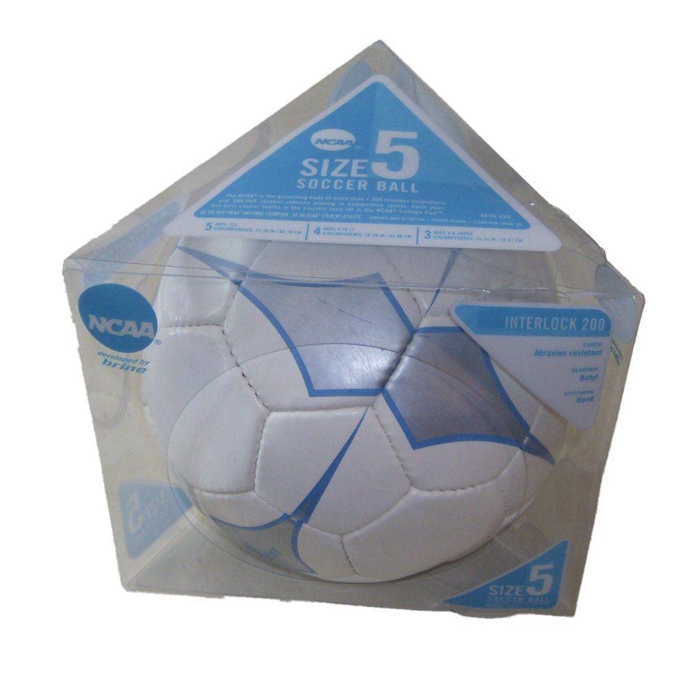 Brine NCAA Interlock 200 Soccer Ball White Blue & Silver Size 5 Sport Ball