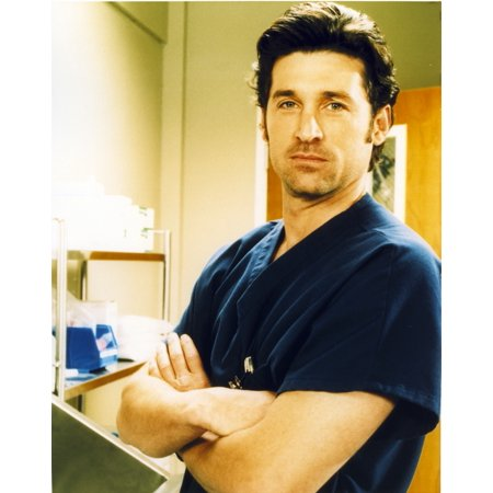 Patrick Dempsey Posed in Blue Shirt Photo Print