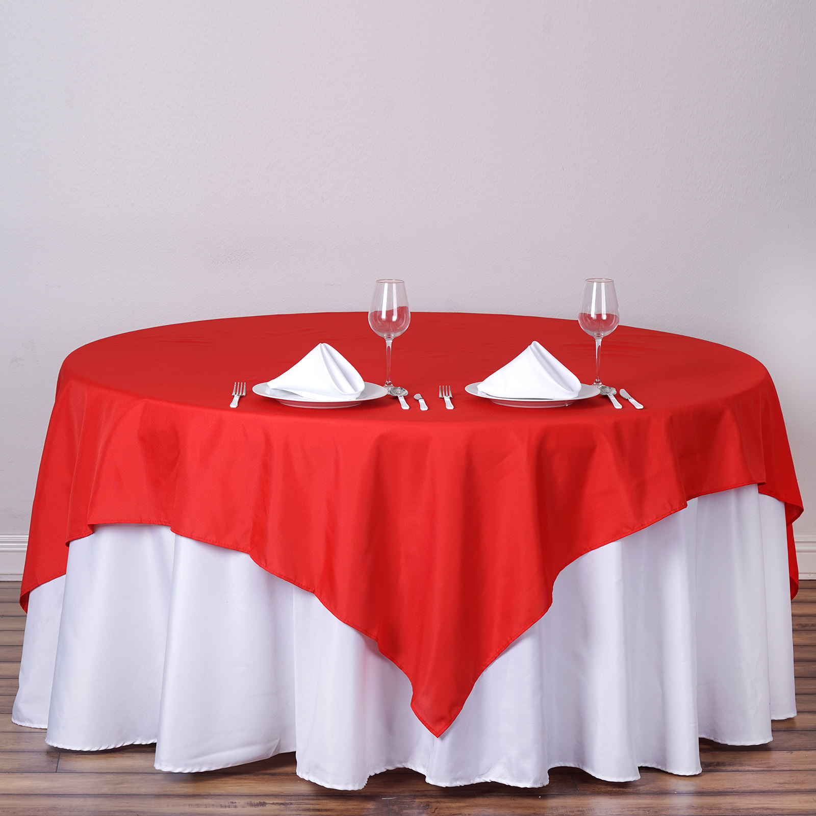 """BalsaCircle 70"""" x 70"""" Square Polyester Tablecloth Table Covers for Party Wedding... by"""
