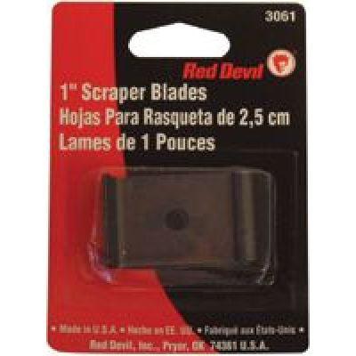 Red Devil Single Edge Scraper Blades - 1'' blade fits 3010 wood& paint scrap (Set of 10)