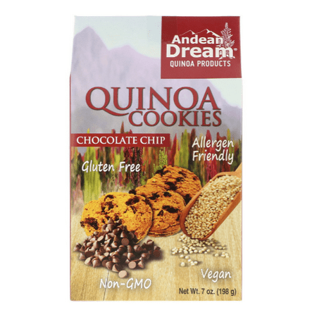 Andean Dream, Quinoa Cookies, Chocolate Chip, 7 oz (pack of - Dram Chips