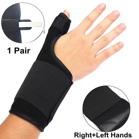 2 Pack 1Pair Breathable 3 IN 1 Medical Right and Left Hands and Wrist Brace with Thumb Spica Splint Support Brace Stabiliser Arthritis Sprain Gym Hand Protector Carpal Tunnel