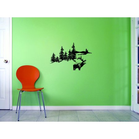 Custom Wall Decal Sticker Hunting scene Home Decor Picture Art 10x20 I