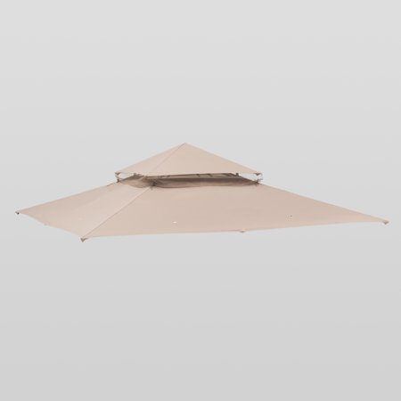 Sunjoy Replacement Canopy for Target Madaga Gazebo Set 10x10 Ft, Khaki