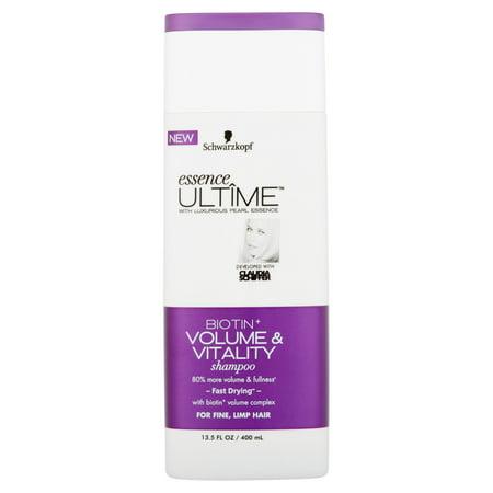 Schwarzkopf Essence + ULTIME Biotine Shampooing Volume & Vitalité, 13,5 fl oz