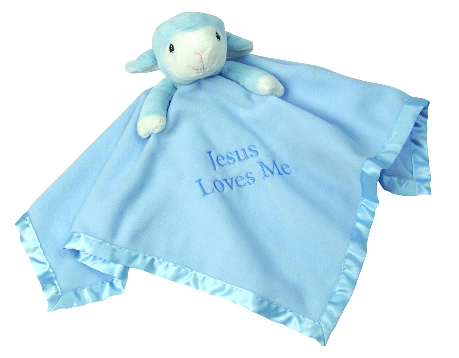 , Blue Lamb, Stuffed Animal and Blanket, 102502 By Precious Moments Ship from US by Precious Moments