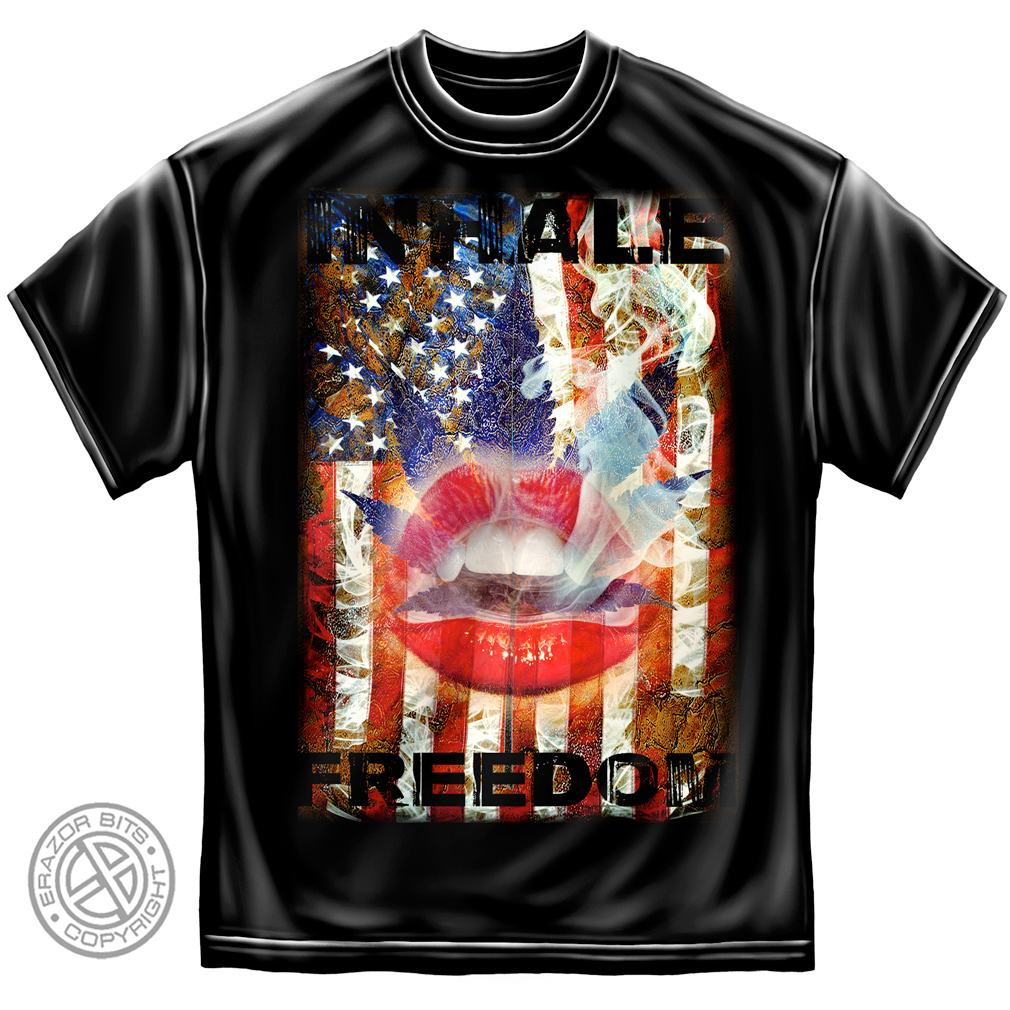 Cotton Inhale Freedom T-Shirt