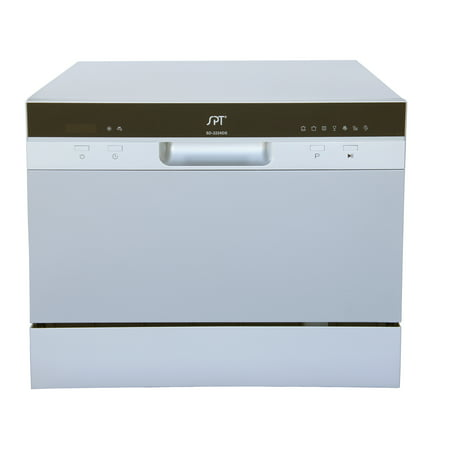 SD-2224DS Countertop Dishwasher with Delay Start & LED – Silver