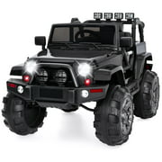 Best Choice Products 12V Kids Ride On Truck Car w/ Remote Control, 3 Speeds, Spring Suspension, LED Lights, AUX - Black