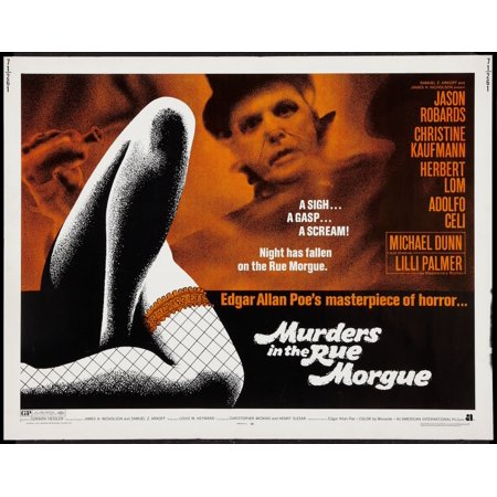Murders In The Morgue Top Herbert Lom On Title Card 1971 Movie Poster Masterprint - Morgue Sign