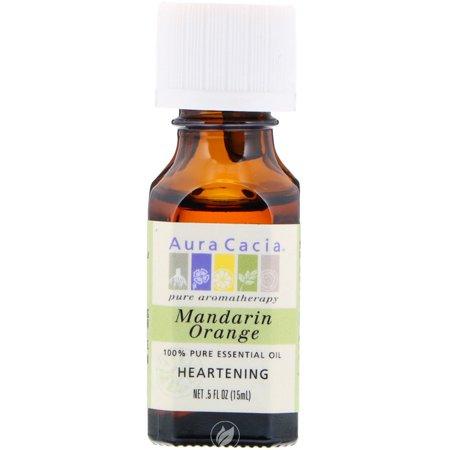 Aura Cacia Essential Oil Orange Mandarin (citrus reticulata) 0.5 Ounce, Pack of 2 ()