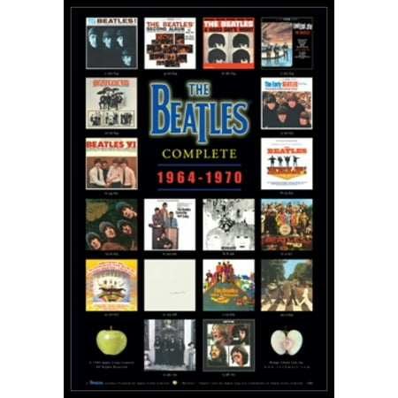 The Beatles Albums Poster Poster Print