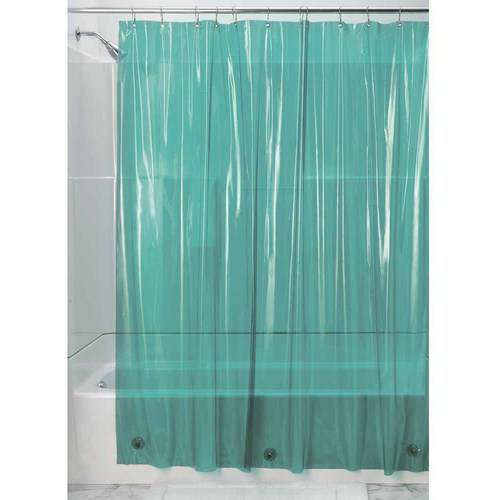 InterDesign Vinyl Shower Curtain Liner Long 72 X 84 Deep Teal