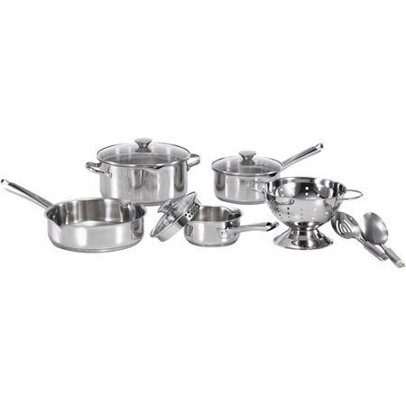 Wearever Hard Cookware (WearEver Cook and Strain 10-Piece Stainless Steel Cookware)