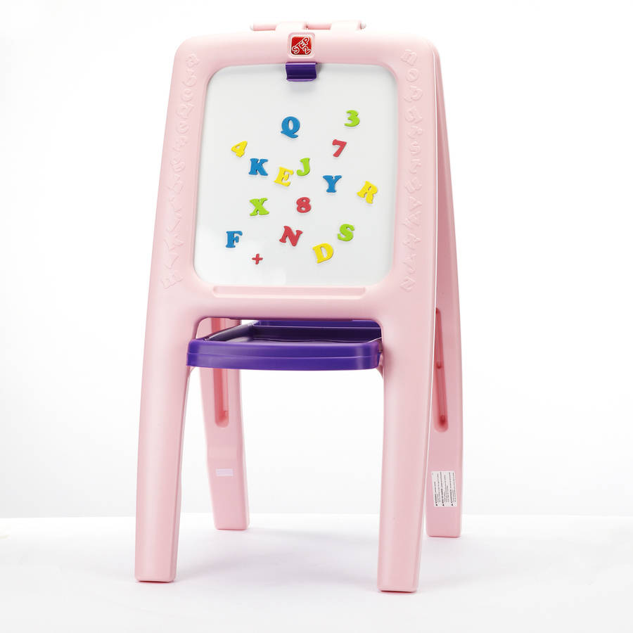 Step2 Easel For Two Pink With 77 Piece Art Kit Educational Toys Ebay