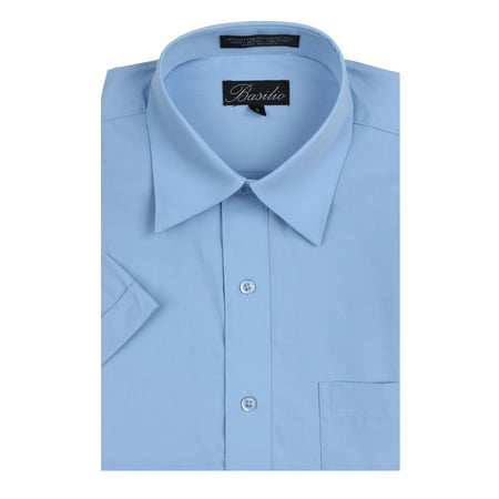 Men's Basilio Short Sleeve Solid Dress Shirt - Many Colors Available