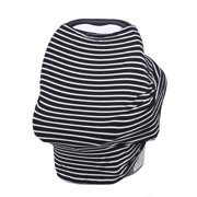 Kadell Baby Canopy Cover for Car Seat, Multi Use, Black and White Stripes