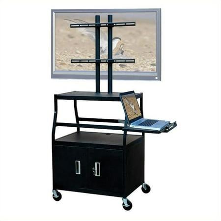 Wide Body Av Cart - VTI Wide Body Cabinet Cart for up to 47