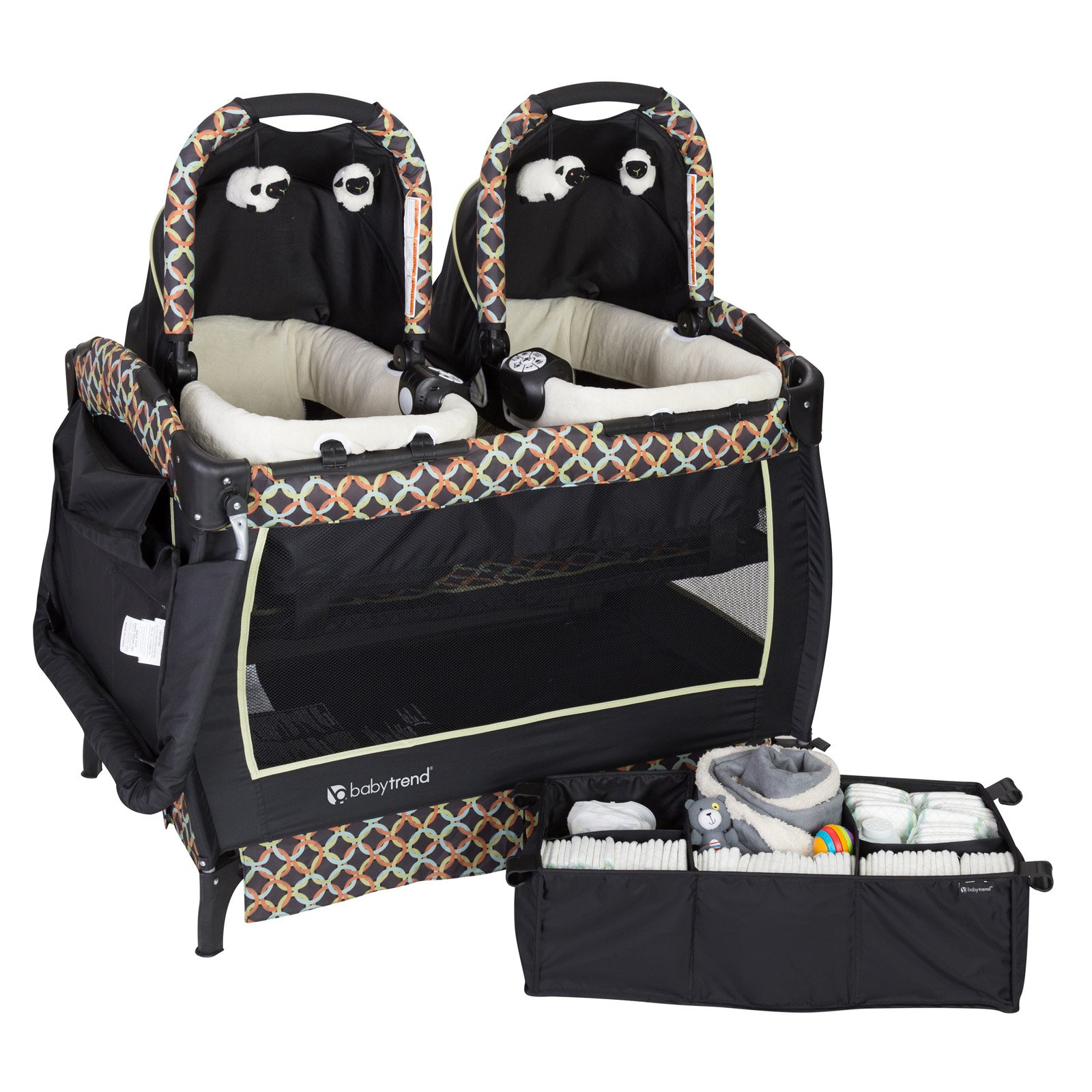 Baby Trend Twins Nursery Center Play Pen, Goodnight Forest by Baby Trend