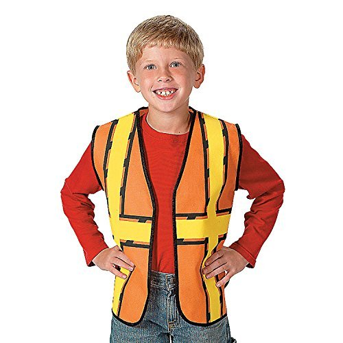 "Fun Express - Construction Worker Vest, 17"" x 20"", Non-Woven"