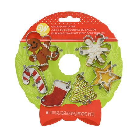Wreath Cookie Cutter - Mini Metal Cookie Cutter Set 6/Pkg-Wreath