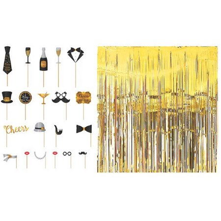 New Year's Photo Props Party Kit - New Years Party Kit