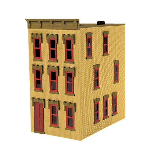 NYAO Town House, Dusty Yellow Brick Multi-Colored