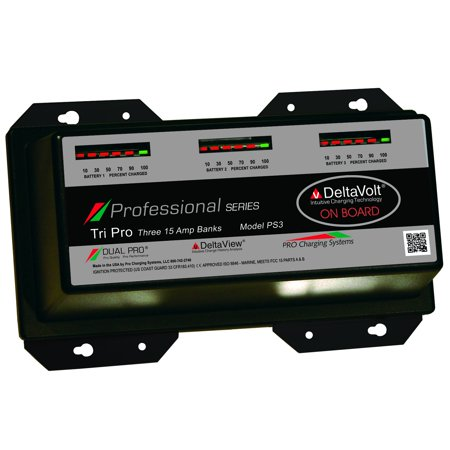 Dual Pro Professional Series 3 Bank Charger 15 AMP/Bank - Dual Band Marine