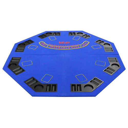 JP Commerce New Design 4 Fold Octagon Poker And Blackjack Table Top