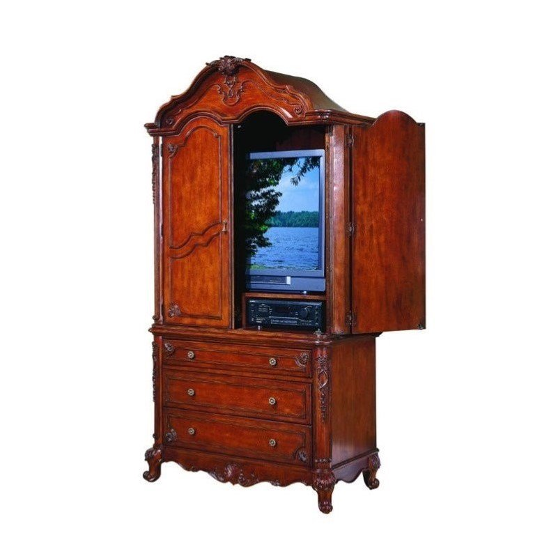 Trent Home Madaleine Flat Panel TV Armoire in Antique Cherry