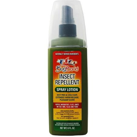 Deet 6 Oz Spray (BugBand Insect Repellant Pump Spray Lotion, Deet Free 6 oz )