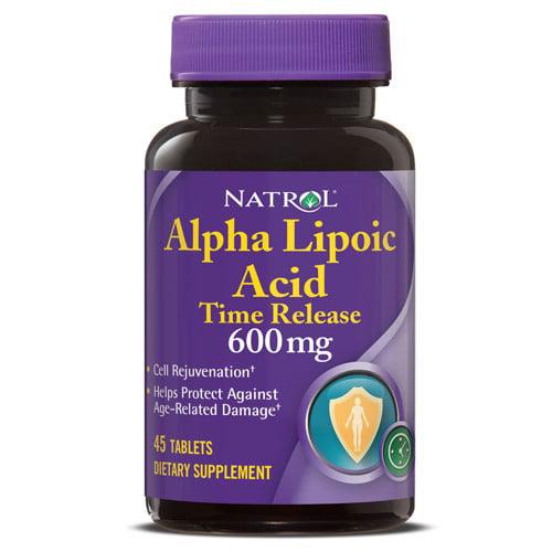 Natrol Alpha Lipoic Acid Time Release 600mg Tablets, 45 Ct