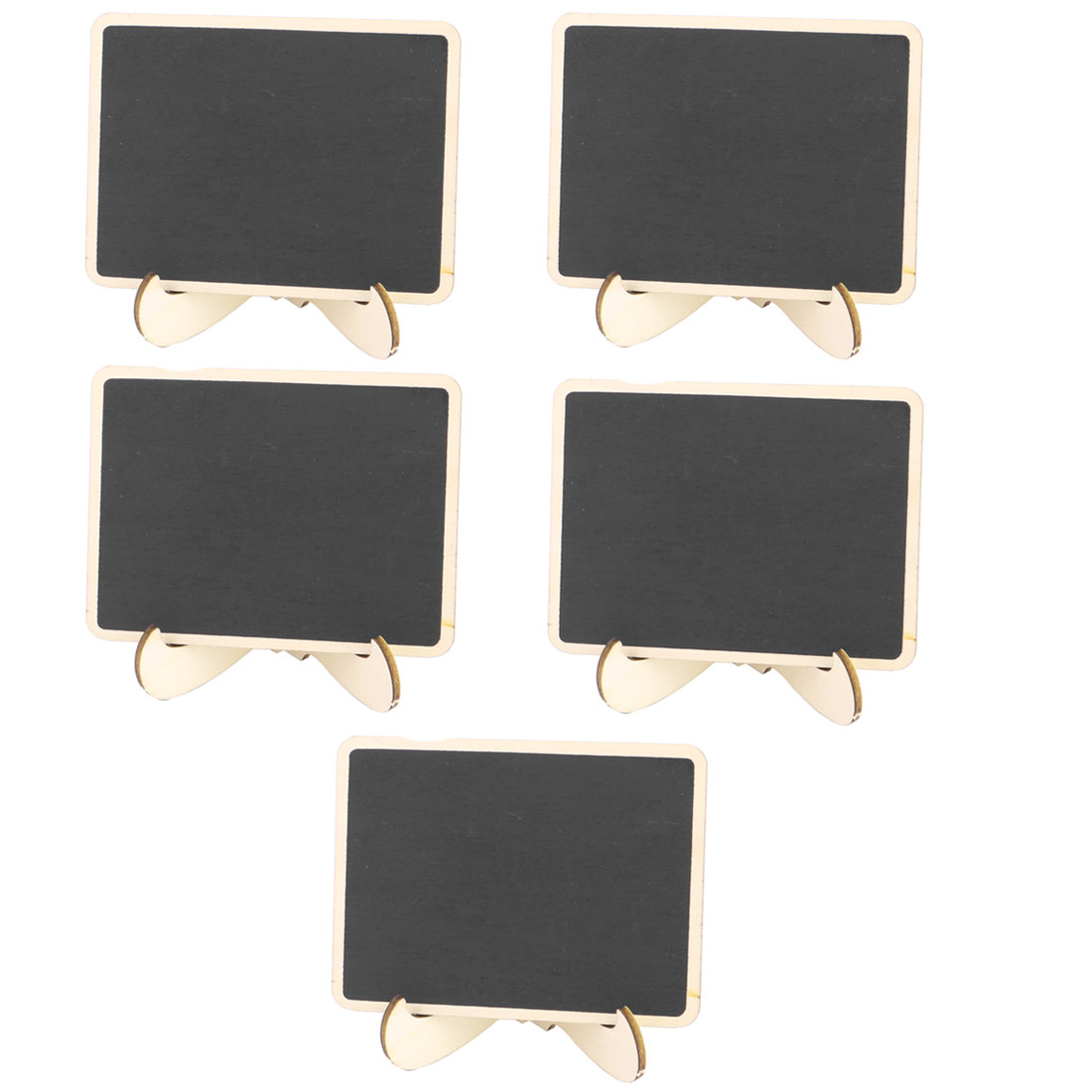 Wedding Wooden Rectangle Message Memo Standing Decor Chalkboard Blackboard 5pcs