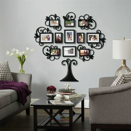DIY Family Tree Photo Picture Frame Collage Set Black Wall Art Decoration Sticker Home Room Decor