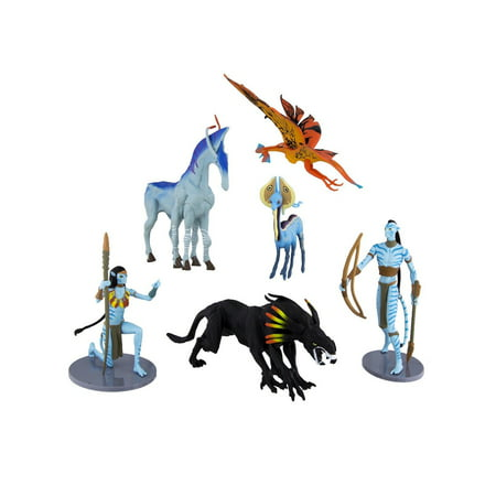Disney Parks Pandora World Of Avatar Navi Collectible Figures Figurines Set 6