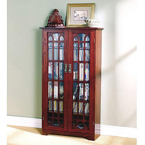 Window Pane Media Cabinet, Oak