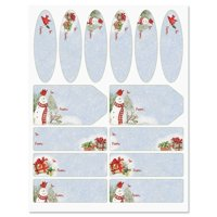 Snowy Cardinal Labels - Set of 42 Gift Tags