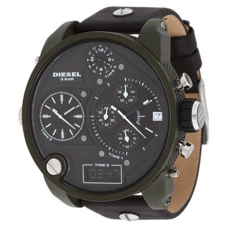 Bug Watch - Diesel  Men's DZ7250 'Big Daddy' Chronograph Black Leather Watch