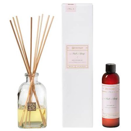 THE SMELL OF SPRING Aromatique Reed Diffuser Gift Set Square Glass Bottle with Medallion