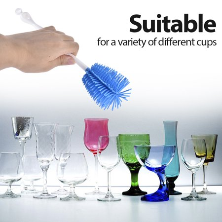 Bottle Brush Cup Brush Bottle Cleaner Dispensing Brush Cup Cleaning Brush for Glass Cups - image 4 de 7