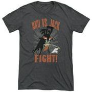 Samurai Jack Jack Vs Aku Mens Tri-Blend Short Sleeve Shirt