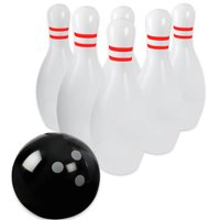 Novelty Place Giant Inflatable Bowling Set for Kids & Adults, One 18 Inches Ball with Six 24 Inches Pins