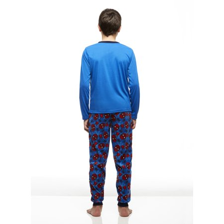 Big Boys 2-Piece Pajama Set, Long-Sleeve Jersey Top and Fleece Jogger Pants, Spider-Man, by Jellifish Kids - image 1 of 3