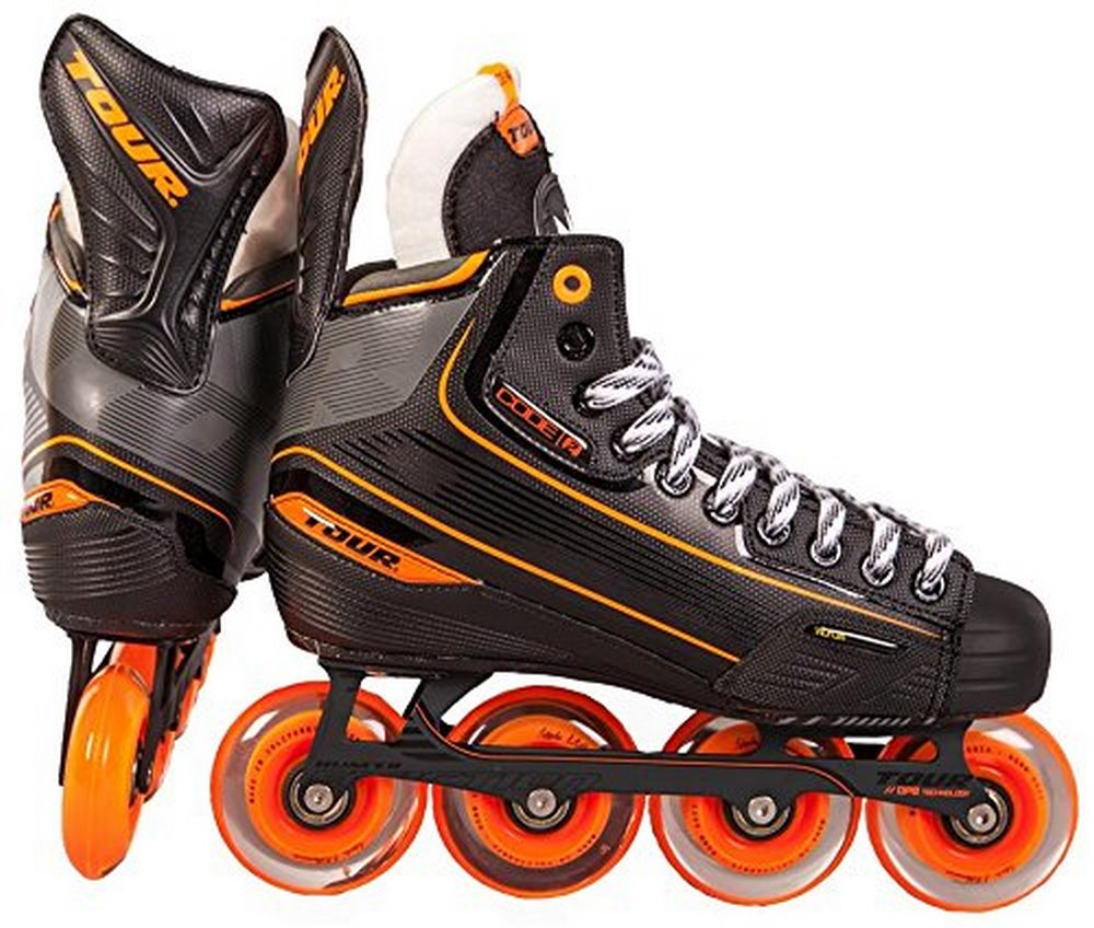 Tour Hockey Mens CODE 2 Sr Inline Hockey Skate, Black by