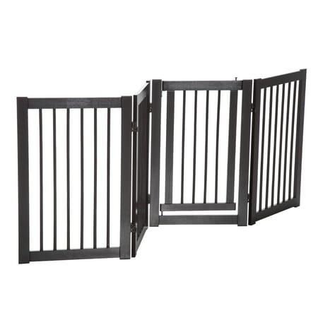 Anself 30 Pet Dog Freestanding Safety Fence Panel Wooden Folding