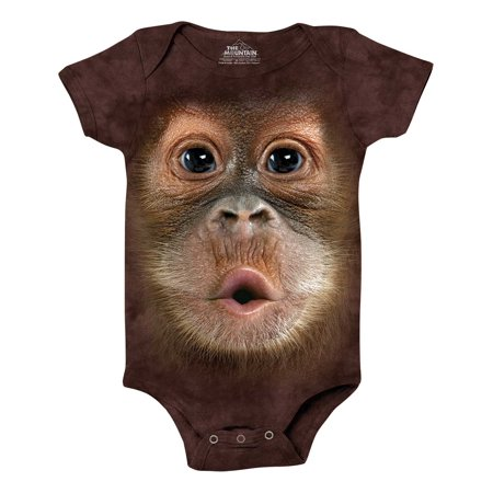 Brown Onesie (The Mountain BF BABY ORANGUTAN ONESIE Brown Infant Unisex)