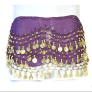 Coin Belly Dancing Wrap: Purple